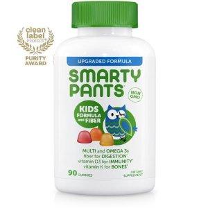 (2 pack) SmartyPants Kids Formula and Fiber Multivitamin Gummies, 90 Ct - Walmart.com