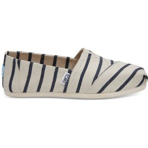 TomsWhite Navy Riviera Stripe Women's Classics Venice Collection