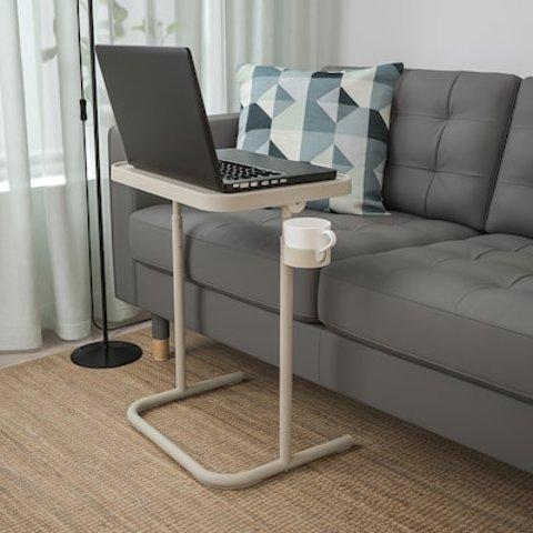 $29.99收+带水杯槽Ikea 网红沙发小边桌/电脑支架桌 居家办公必备 时尚又节省空间