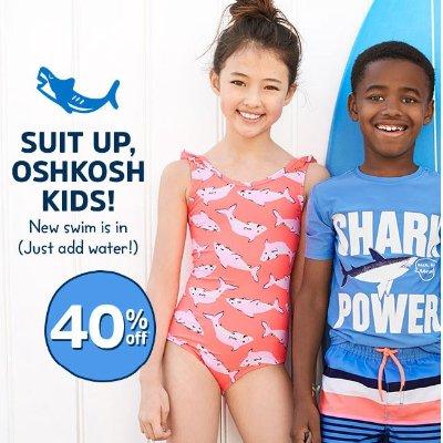 35db2e618b Kids Swim Sale @ OshKosh BGosh Up to 40% Off + Extra 25% Off - Dealmoon
