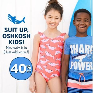 b78e174a01623 Kids Swim Sale @ OshKosh BGosh Up to 40% Off + Extra 25% Off - Dealmoon