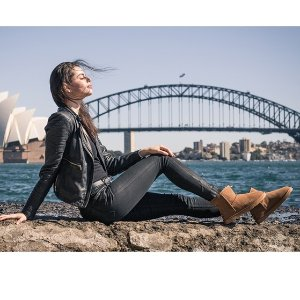 $59(原价$229)UGG 正宗澳洲羊皮毛一体 防水雪地靴 多色可选