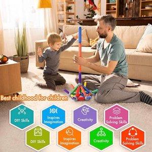 $20.99(原价$34.99)BMAG 儿童益智彩色磁力拼搭玩具,46块