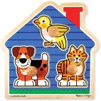 Melissa & Doug 木质宠物小屋拼图