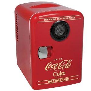 Koolatron 6罐容量可口可乐冷饮柜  内置蓝牙音箱
