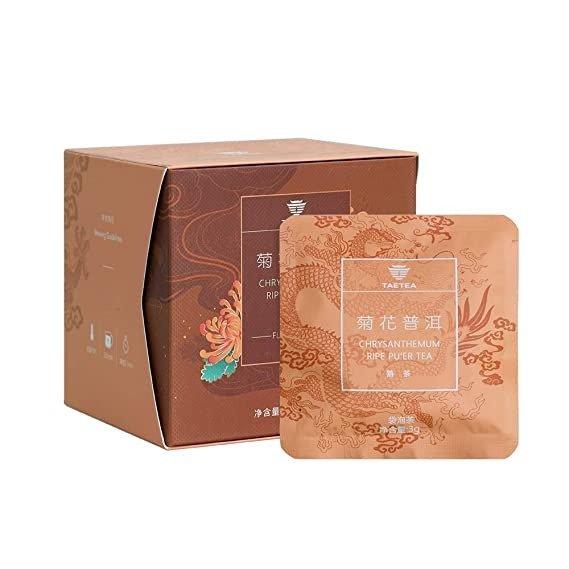 菊花经典普洱茶包12包礼盒