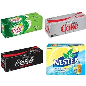 $3.79起(原价$5.49)  夏日清凉解暑必备健怡可乐/零度可乐/Canada Dry/雀巢冰红茶 12罐装