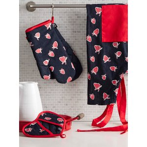 草莓主题围裙 隔热垫
