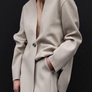 折扣区额外6折+大衣额外5折最后一天:极简风 Oak+Fort 官网年度清仓大促,长裙$10+,上衣$10+