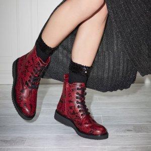 Cadirwen 红色涂鸦靴