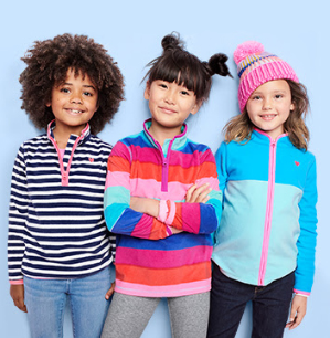 5折+额外7.5折 有0-14岁码 $10拿下即将截止:OshKosh BGosh 儿童抓绒卫衣优惠,拼色款、节日款、开衫、套头都有