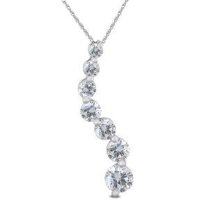 Szul1 Carat TW Diamond Journey Pendant in 14K White Gold