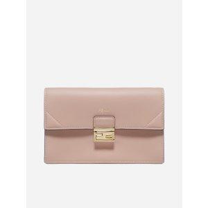 FendiFF logo leather clutch bag