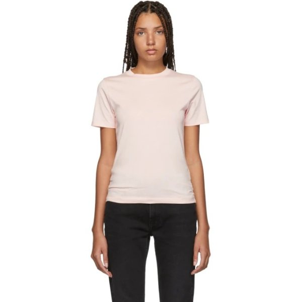 粉色短袖T恤