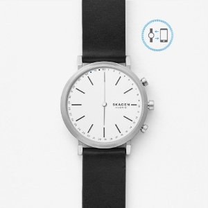 SkagenHald Connected Leather Hybrid Smartwatch