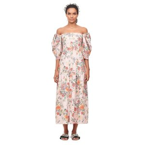 Rebecca TaylorOff-The-Shoulder Marlena Floral 碎花连衣裙