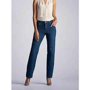 Women's Stretch Relaxed Fit Straight Leg Jean (Petite) | Women's Jeans | Lee®