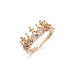 标价为港币,这款真的美绝了哇~18K黄金蓝宝石皇冠戒指