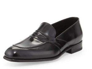 b89ba4fe8cb TOM FORD Charles Leather Penny Loafer