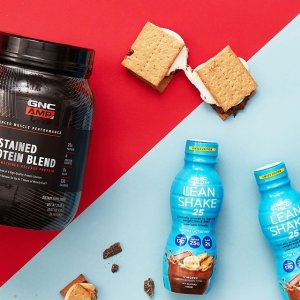 GNC官网 Lean Shake、蛋白粉等运动营养补剂促销
