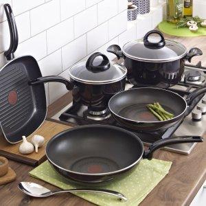 低至3.7折Tefal 精选 法国制厨具热卖 收不粘红点炒锅、平底锅
