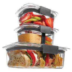 $13Rubbermaid Brilliance Food Storage Container 10-Piece Sandwich/Snack Lunch Kit
