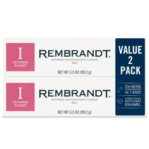 6.43Rembrandt Intense Stain Whitening Toothpaste 2 Pack