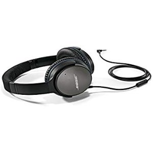 Amazon.com: Bose QuietComfort 25 Acoustic Noise Cancelling Headphones for Apple devices - Black (wired, 3.5mm): Bose: Home Audio & Theater