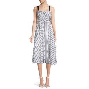 Jason Wu CollectionStriped Cotton A-Line Dress