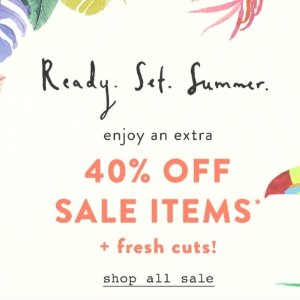 Up to 50% Off + Extra 40% OffSale @ anthropologie