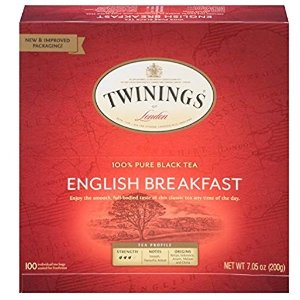 $8.72+免邮 直接半价手慢无Twinings Tea 英式早茶茶包 100包 传统配方温和提神