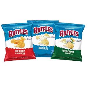 $9.17(原价$15.28) 一袋仅需$0.11白菜价:Ruffles 土豆薯片 三种口味 1oz 40袋