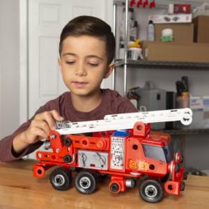 Meccano 救援消防车拼装STEM玩具,带声光