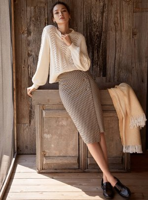 Memories of London wrap skirt   Contemporaine