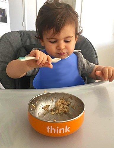 儿童不绣钢餐具 橙色