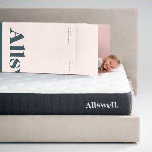$199起 低至7.8折Allswell 全新10英寸创新弹簧记忆棉床垫热卖