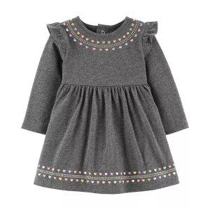 Carter'sGlitter Heart Jersey Dress