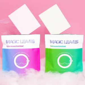 25片仅€3.45 从此摆脱沉重洗衣液MAGIC LEAVES 神奇洗衣片 一片可清洁4.5kg衣物 彩色/白色版