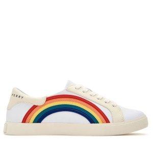 低至4折 水果姐的牌子哦Katy Perry 精选鞋履热卖 封面款彩虹小白鞋$31 透明凉鞋$15