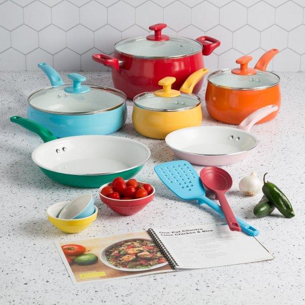 彩色锅具16件套