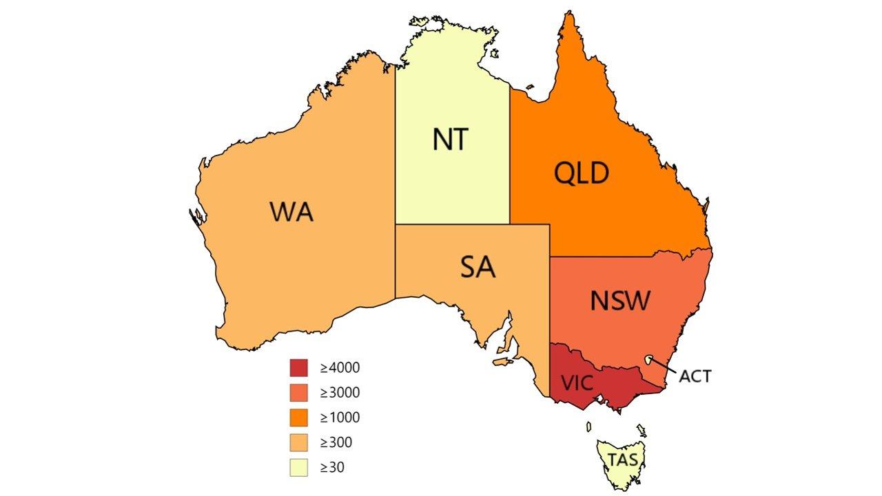 新冠肺炎澳洲实时动态:维州确诊破4000,全澳确诊破万!新州新增2个热点疫区,并宣布收紧酒吧限制,检疫违规或致维州疫情爆发!新州新增13例,维州270例,西澳1例,全澳累计确诊10061例,病亡2例!