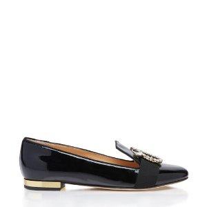 Charlotte Olympia圆扣平底鞋