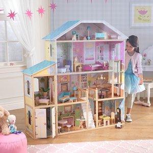 Amazon KidKraft Majestic Mansion Dollhouse with Furniture
