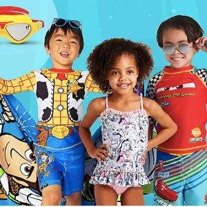 低至6折迪士尼官网 新款泳装、沙滩巾、凉拖、水鞋等优惠