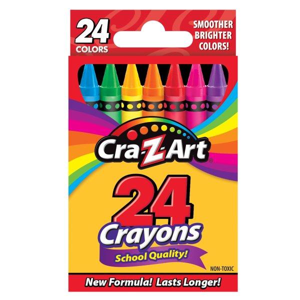彩色蜡笔 24支