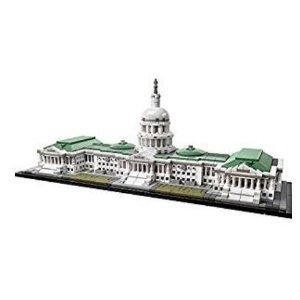 $99.99(原价$129.99)LEGO 建筑系列 21030 美国国会大厦 (1032 片)
