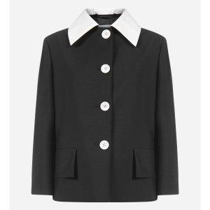 €574(原价€1690)免邮Prada 羊毛马海毛西装大衣3.3折入 质感舒适显高级