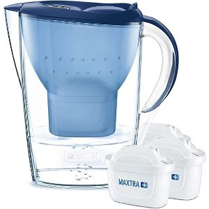 Brita让水的口感更柔软、甘甜3只滤芯+2.4L水壶 蓝色