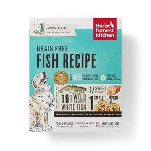 $88.19(原价$117.59) 可制作40磅湿粮The Honest Kitchen 人食用级脱水狗粮无谷物鱼肉 10磅