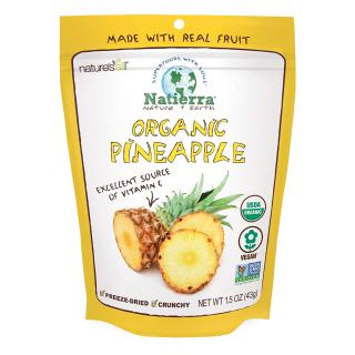 $5.03 天然水果脱水零食Natierra 冻干天然菠萝片 1.8 Oz. 多种水果干可选